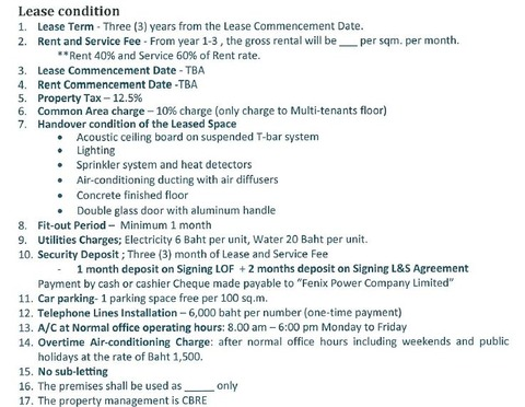 Lease Condition
